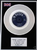 "BILLY FURY -  7"" Platinum Disc - A THOUSAND STARS"